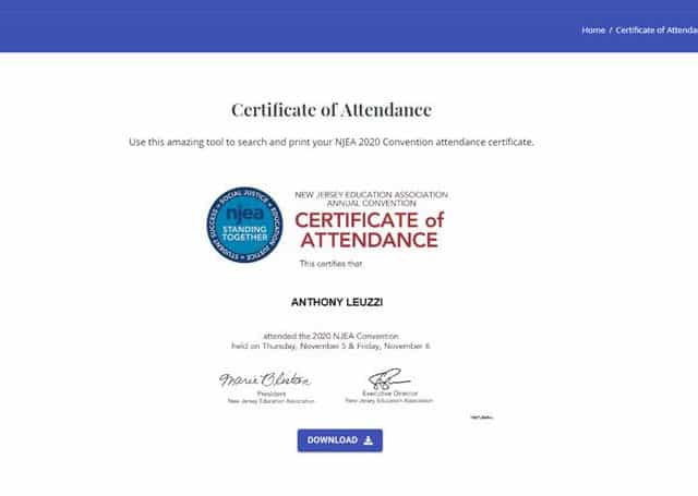 Where do I get my certificate of attendance?
